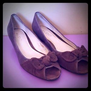 ⛱3/$20 Aldo Purple Kitten Heel Peep Toe